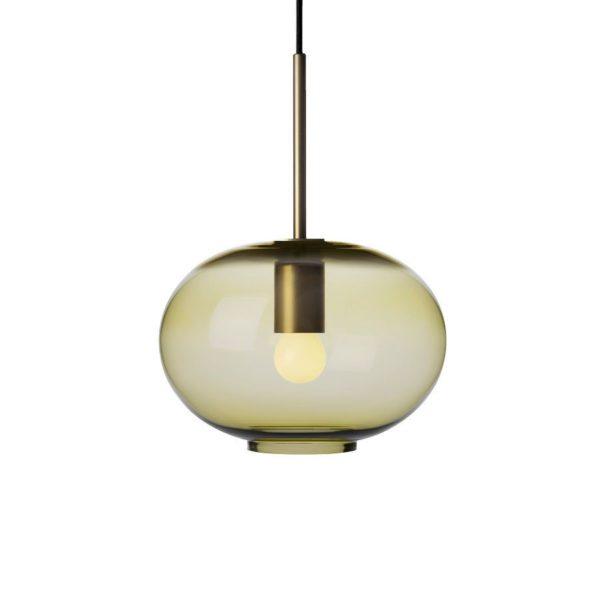 Arkivlampe 4169 small i oliven farge og messing oppheng