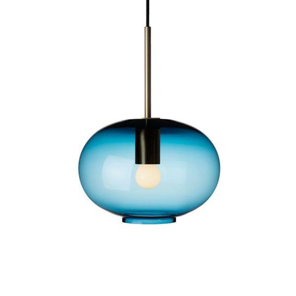 Arkivlampe 4169 small i stålblå farge og messing oppheng