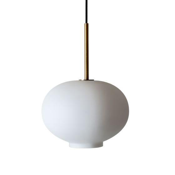 Arkivlampe 4169 small i hvit matt farge og messing oppheng