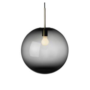 Arkivlampe 4014 400mm røkgrå med messing oppheng