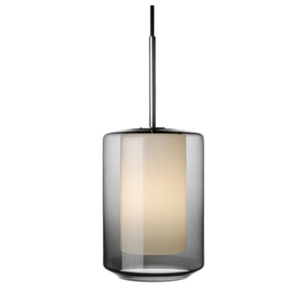 Arkivlampe 4245 i røkgrå og hvit med stål oppheng