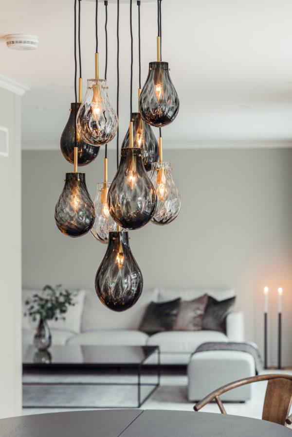 Dråpe lampe fra Hadeland Glassverk