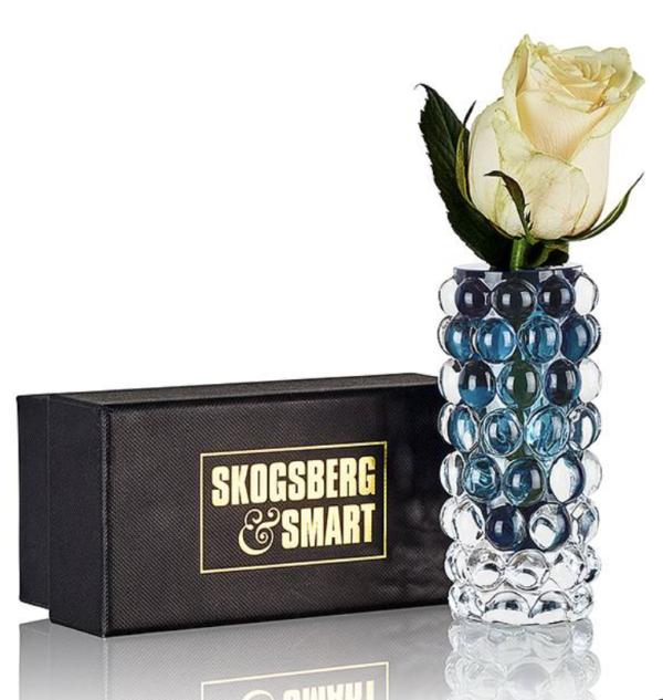 Produktbilde av Boule Mini Vase fra Skogberg og smart i smokey blue