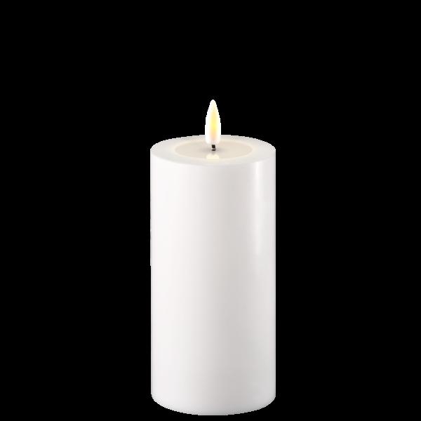 LED lys fra Deluxe Homeart. Stort kubbelys i hvitt