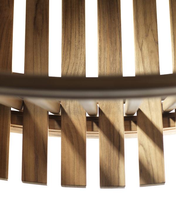 M1 Sammen Garden Chair. Hagestol i teak fra FDB Møbler detaljbilde 2