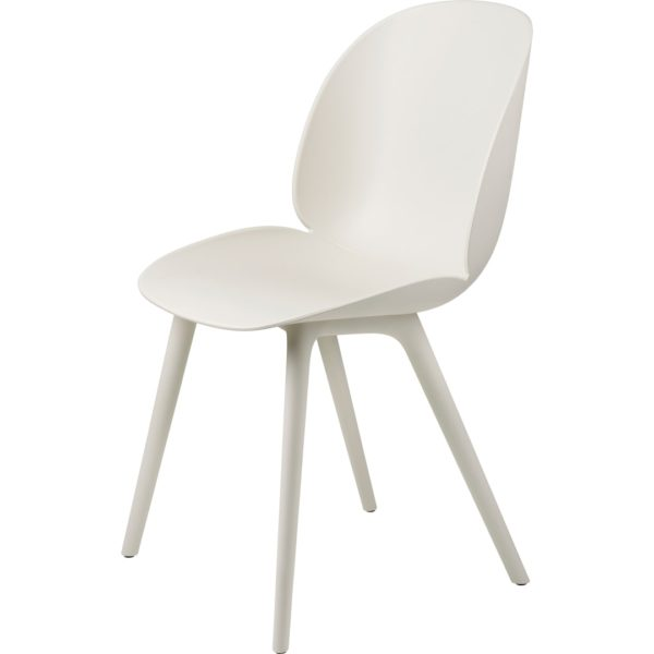 Gubi Beetle Outdoor Dining Chair in Alabaster White