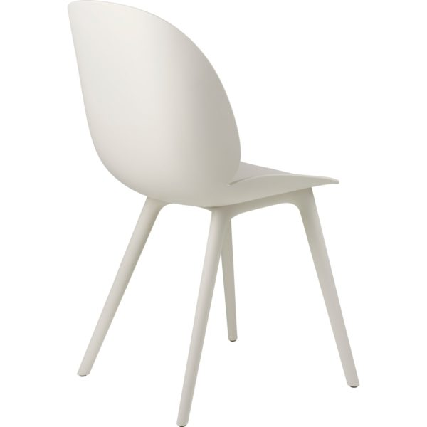 Gubi Beetle Outdoor Dining Chair in Alabaster White bak