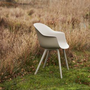 Gubi Bat Outdoor Dining Chair in New Beige