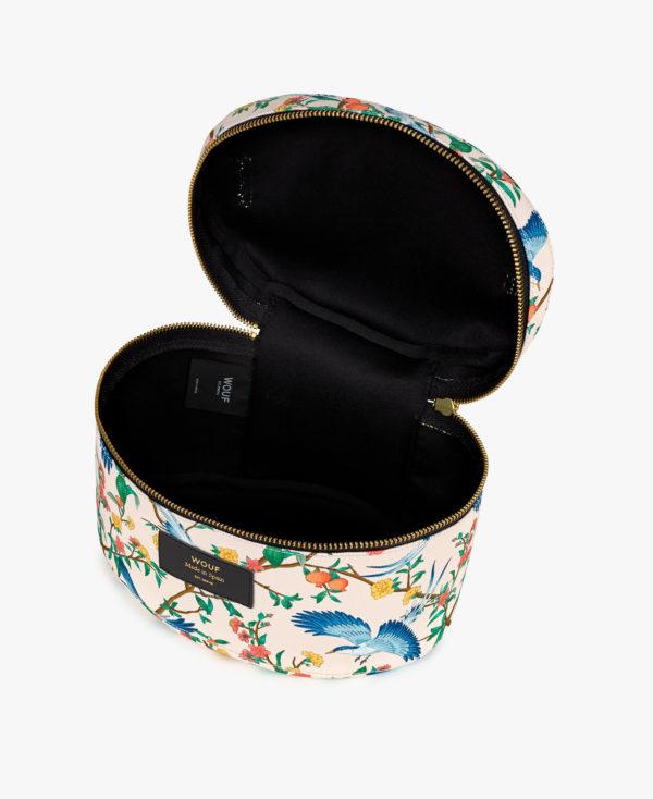 Phoenix XL Makeup Bag. Toalettmappe med håndtak fra WOUF åpen