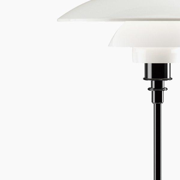 Produktbilde av PH 3½-2½ bordlampe fra Louis Poulsen i svart metallisert