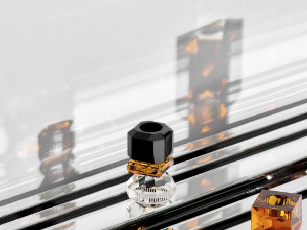 Produktbilde av telysholder Phoenix i Black/Amber/Clear fra Reflections of Copenhagen