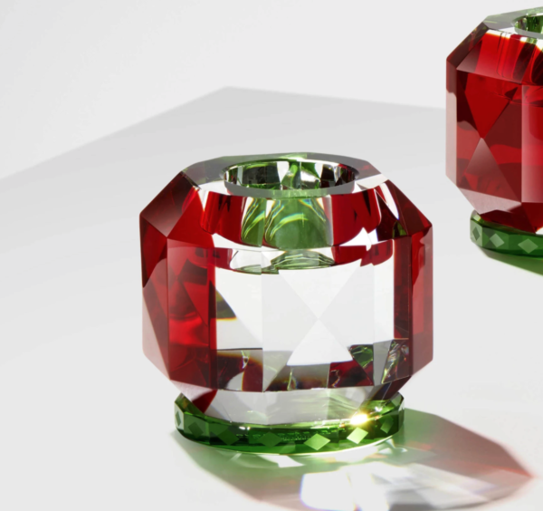 Produktbilde av telysholder Texas Christmas limited edition red/green fra Reflections of Copenhagen