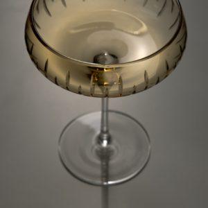Bilde av Crystal Champagne Coupe fra Louise Roe i farge Amber
