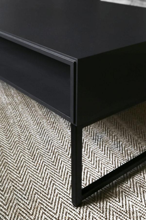 Detaljbilde av Cube Sofabord fra Englesson i sort