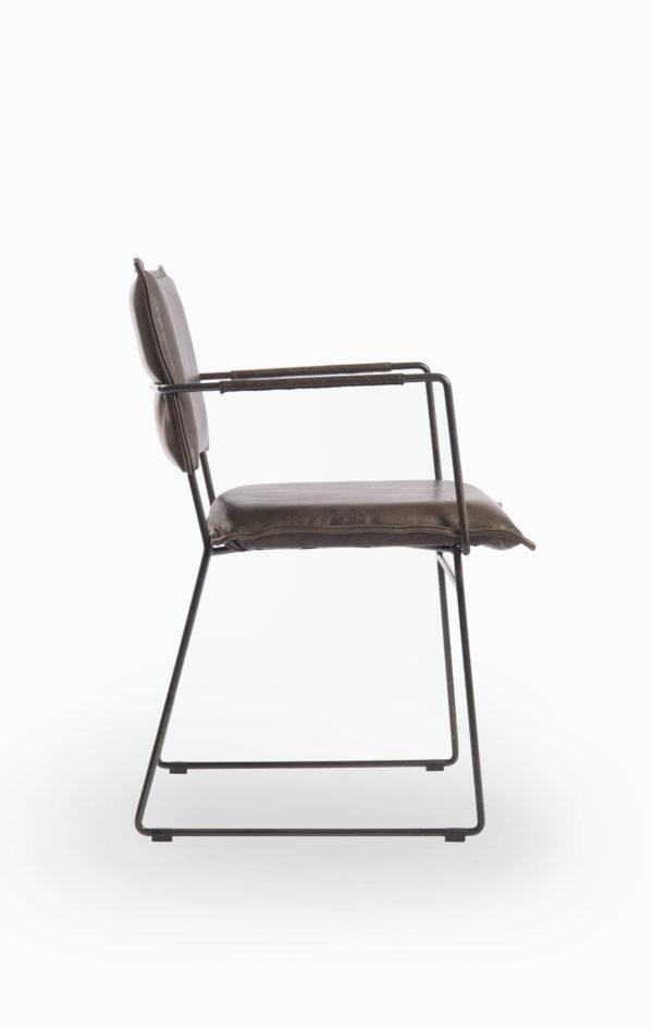 Norman spisestol med armlener i Luxor Grey fra Jess Design
