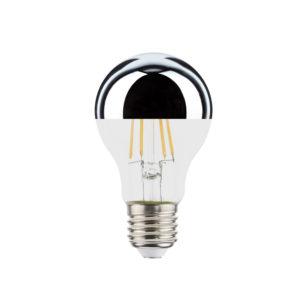 Airam sølv lyspære E27 LED