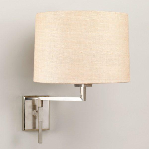 Knox Swing Arm vegglampe i nikkel fra Vaughan Designs