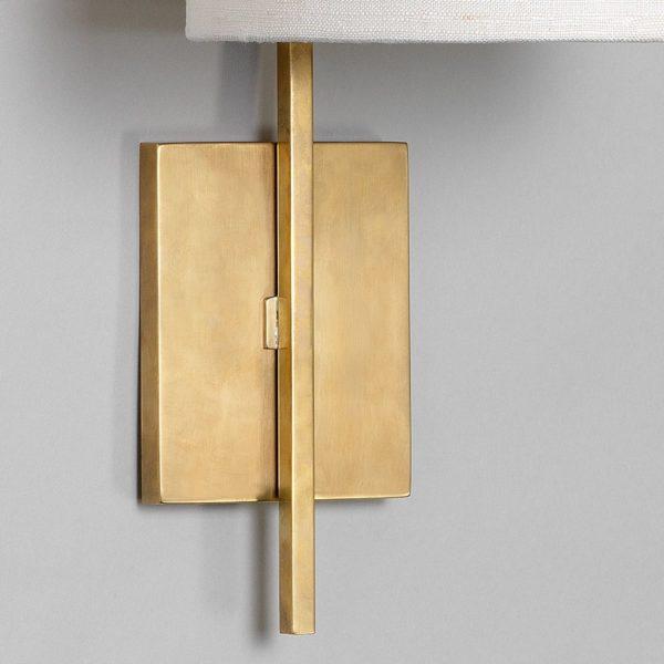 Lewes Long Arm vegglampe i messing fra Vaughan Designs