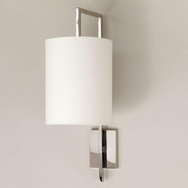 Lewes Long Arm vegglampe i nikkel fra Vaughan Designs