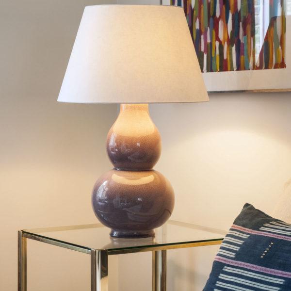 Pembroke Card lampeskjerm i Pale Cream fra Vaughan Designs