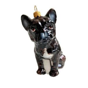Julekule Fransk bulldog fra Vebo Ornaments