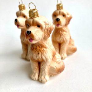 Julekule Goldendoodle fra Vebo Ornaments