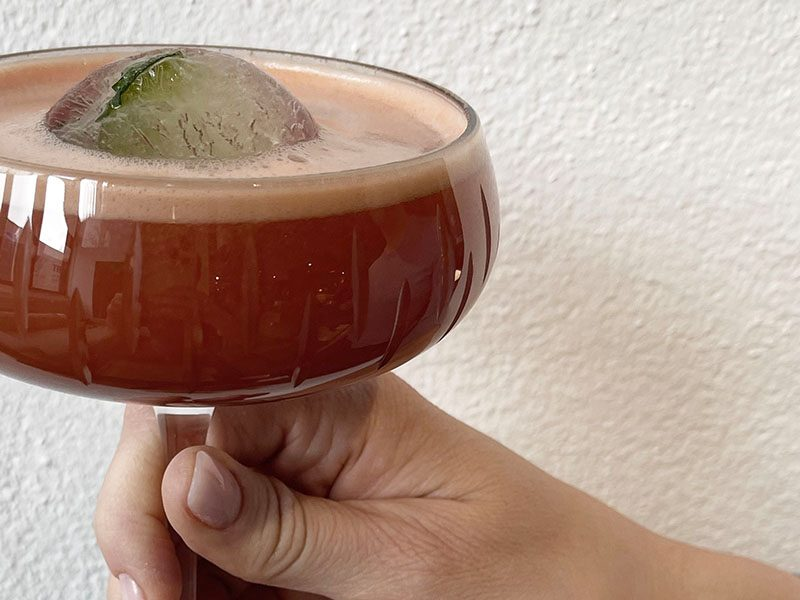 Drink med store isbiter